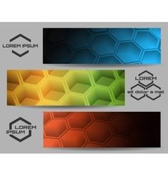 Hexagon Banner Set vector image