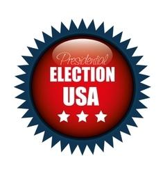 icon button presidential election usa graphic vector image