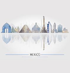 mexico architecture vector image vector image