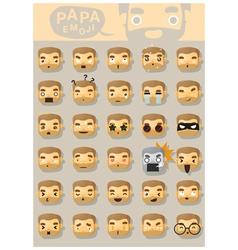 Papa emoji icons vector image
