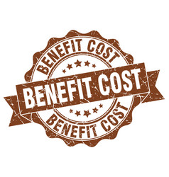 benefit cost stamp sign seal vector image vector image