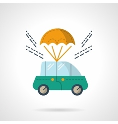 Car purchase and delivery flat color icon vector image vector image