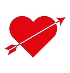 heart red love icon vector image