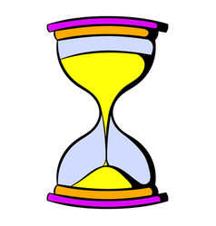hourglass icon cartoon vector image
