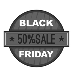 Label black friday fifty percent sale icon vector