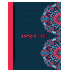 Vintage card with lace Indian ornaments vector image vector image