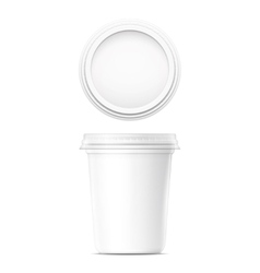 White cream pot template vector image vector image