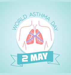 2 may asthma day vector image