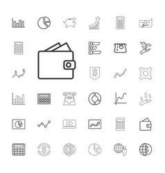 33 economy icons vector