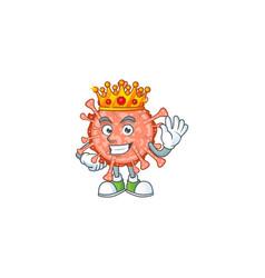 A charismatic king bulbul coronavirus cartoon vector