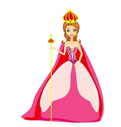 A of cartoon queen vector