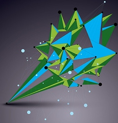 Abstract asymmetric colorful structure with wire vector
