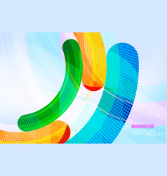Abstract color curve scene vector