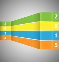 Abstract colorful banner with 2015 vector
