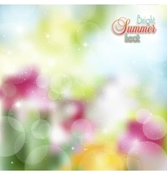 Abstract floral background with highlights vector