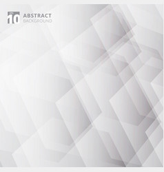 abstract technology geometric gray and white vector image
