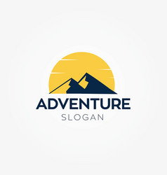adventure mountain logo vector image