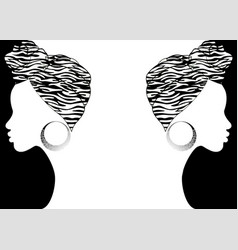 Afro fashion background hairstyle concept vector