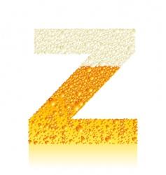 alphabet beer z vector image