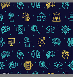 artificial intelligence signs seamless pattern vector image