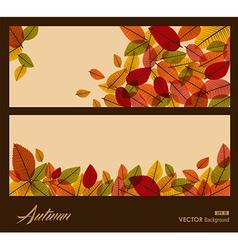Autumn transparent leaves Fall season background vector