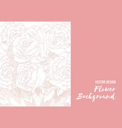 background flower handdrawn rose floral outline vector image