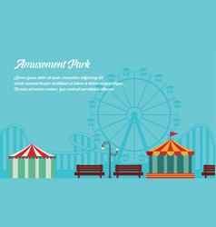 Background style amusement park collection vector