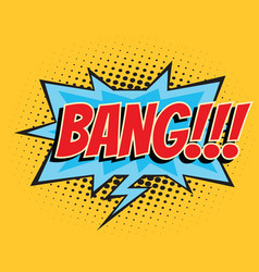 bang comic word vector image