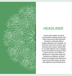 Banner set with floral ornament rose vector