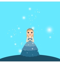 Beautiful cartoon princess with lights vector