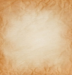 Brown canvas with texture crumpled paper vector