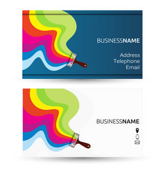 House painter business card vector images 30 business card for painting vector colourmoves