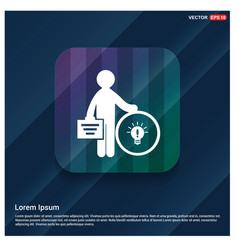 Businessman with idea icon vector