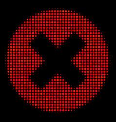 Cancel halftone icon vector