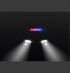 car head lights shining vector image