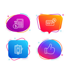 Cashback elevator and finance calculator icons vector