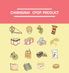 Chiangmai OTOP products vector