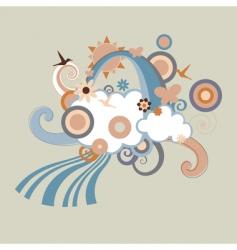 children's background vector image