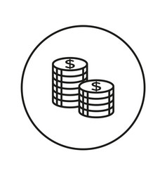 coins stack icon vector image