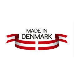 Colored ribbon with the danish colors vector