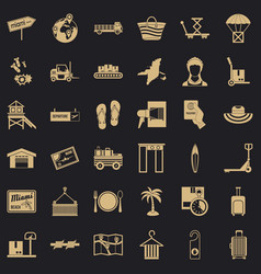 Conveyance icons set simple style vector