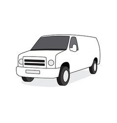 Delivery van front view vector image