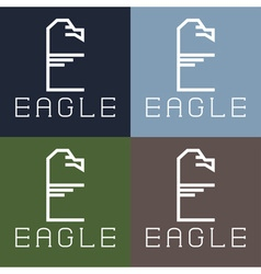 Eagle monogram vector