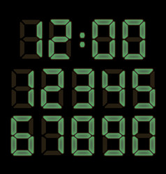 electronic watch font vector image vector image