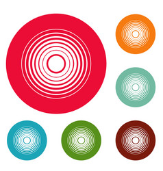 equalizer radio icons circle set vector image