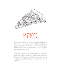 fast food italian pizza poster vector image