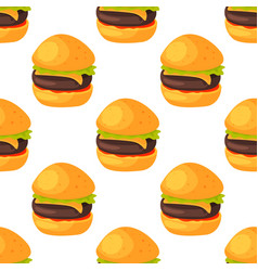 fast food seamless pattern natural menu restaurant vector image