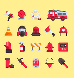 Firefighter elements fire department vector