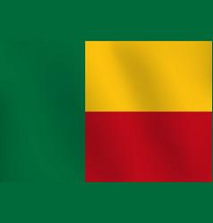 flag of benin - vector image