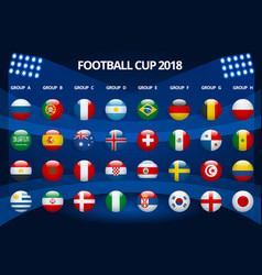 football 2018 europe qualification all groups vector image